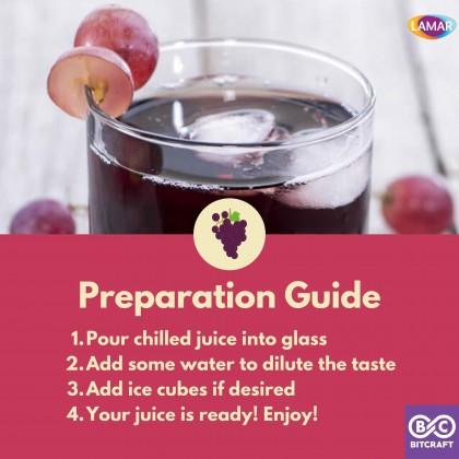 LAMAR 100% Red Grape Juice 1L No Sugar Imported From Egypt No Preservatives Jus Buah Anggur Merah