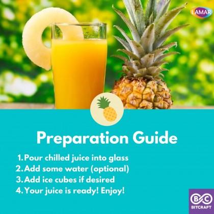 LAMAR 100% Pineapple Juice 1L No Sugar Imported From Egypt No Preservatives Jus Buah Nanas Nenas