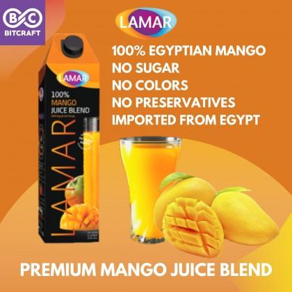 LAMAR 100% Egyptian Mango Juice Blend 1L No Sugar Fruit Imported From Egypt No Preservatives Jus Mangga Mesir Tanpa Gula