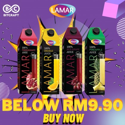 LAMAR 100% Cranberry Juice Blend 1L No Sugar Imported From Egypt No Preservatives Jus Kranberi Tanpa Gula Tanpa Pengawet
