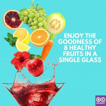 LAMAR Fruit Cocktail Mocktail Punch Drink 200ml Less Sugar No Alcohol